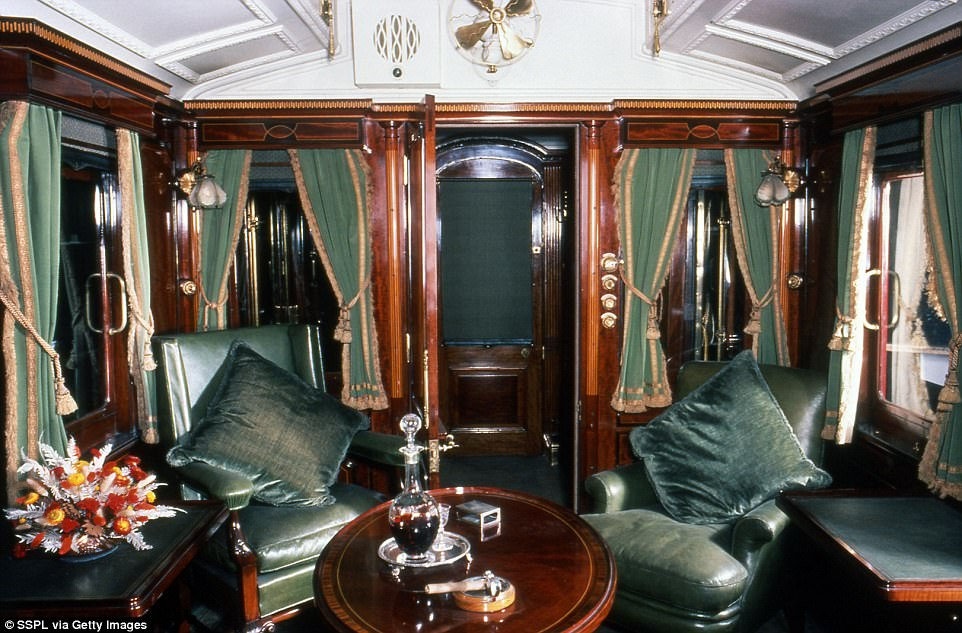 Photographs show how the train looked much more luxurious back in the day. This royal carriage was built for Edward VII by London and North Western Railway and was known as the smoking carriage where the family would retire after dinner