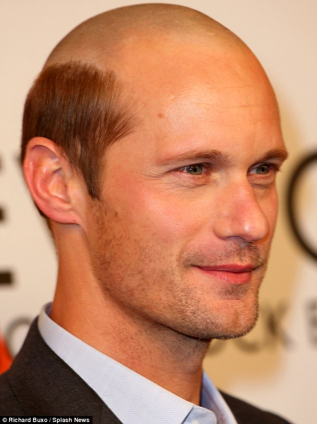 Alexander Skarsgard Goes Bald For Role Daily Mail Online
