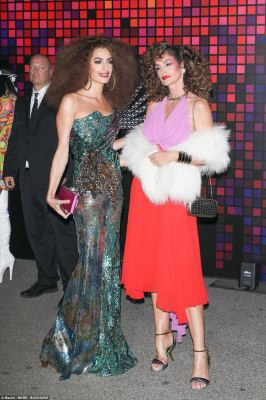 Funk town: Amal channeled Diana Ross as Cindy gave Bianca Jagger fever
