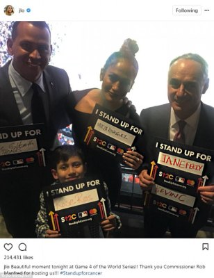 Go JLO:'Fun night with my baby,' the Shades Of Blue actress wrote in one of her captions