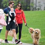 Cute Family: Bradley Cooper,Irina Shayk and Daughter Stroll In Santa Monica