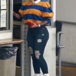 Amber Rose Makes Quirky Look Sexy In LA