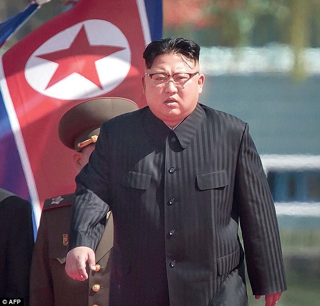 At least 200 people have been killed at a nuclear test site in North Korea after a tunnel collapsed, Japanese media has claimed. Dictator Kim Jong-un is pictured