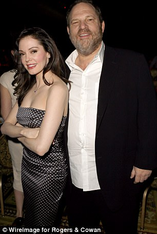 Rose McGowan with Weinstein in 2007