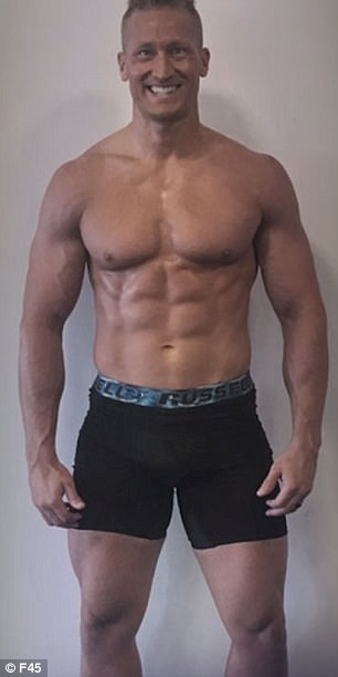 Justin Anderson lost 10.6 kilograms and 7.6 per cent of fat