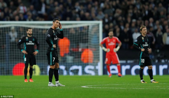 Real Madrid looked stunned after Spurs outplayed and out-fought the holders on a famous night at Wembley