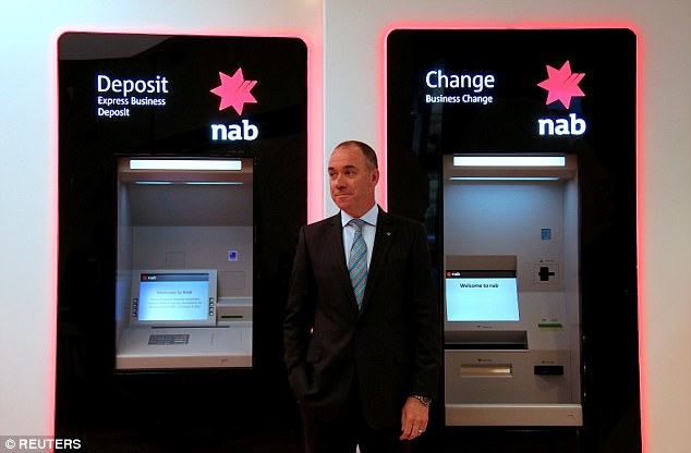 National Australia Bank announced last year it will slash 6,000 jobs over the next three years - as it's revealed the bank made a net profit of $6.6billion (pictured is NAB chief executive Andrew Thorburn)