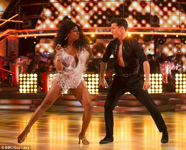 Feuding: Alexandra Burke is reportedly at war with Strictly parner  Gorka Marquez with the pair embroiled in 'full-blown screaming matches', over his reported romance with Gemma Atkinson