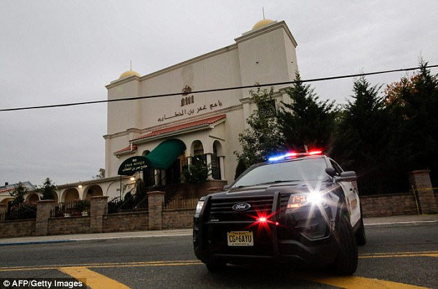 Saipov's mosque in Paterson, New Jersey has been under NYPD surveillance since 2005 (pictured above on Wednesday)