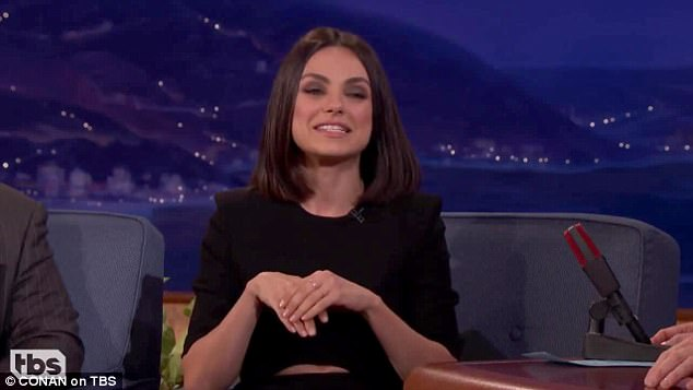Revelation:During her interview on Conan's late night TV show, Mila also revealed she spent her days off from Thats 70s Show selling fake NSYNC T-shirts online