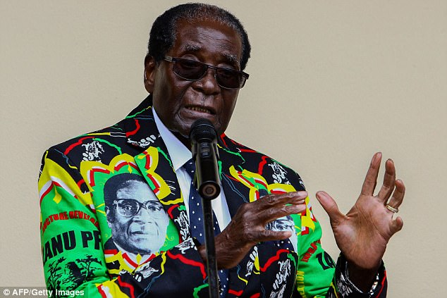 Mugabe, 93, and his ZANU-PF party are notoriously anti-white and harsh on anyone who dares to criticize the government