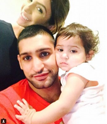Reconciled? Faryal Makhdoom appeared to dramatically reunite with estranged husband Amir Khan on Sunday evening, just days after the boxer enjoyed a night out with a Brazilian model
