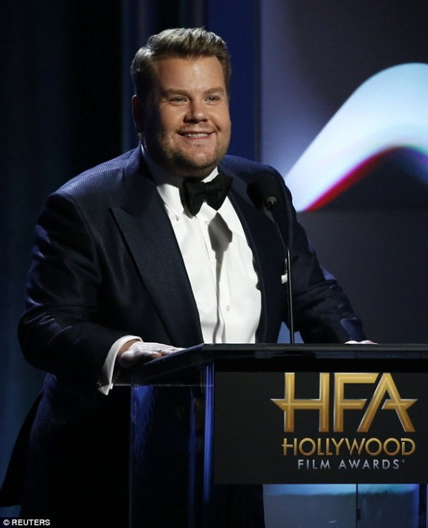 Emcee: The awards show was hosted by British comedian and CBS late night talk show host James Corden, 39