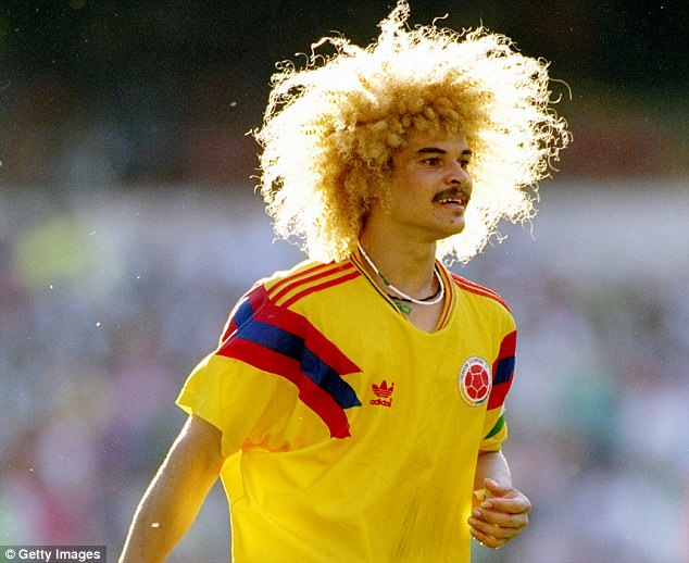 Hasil gambar untuk colombia 1990 world cup jersey