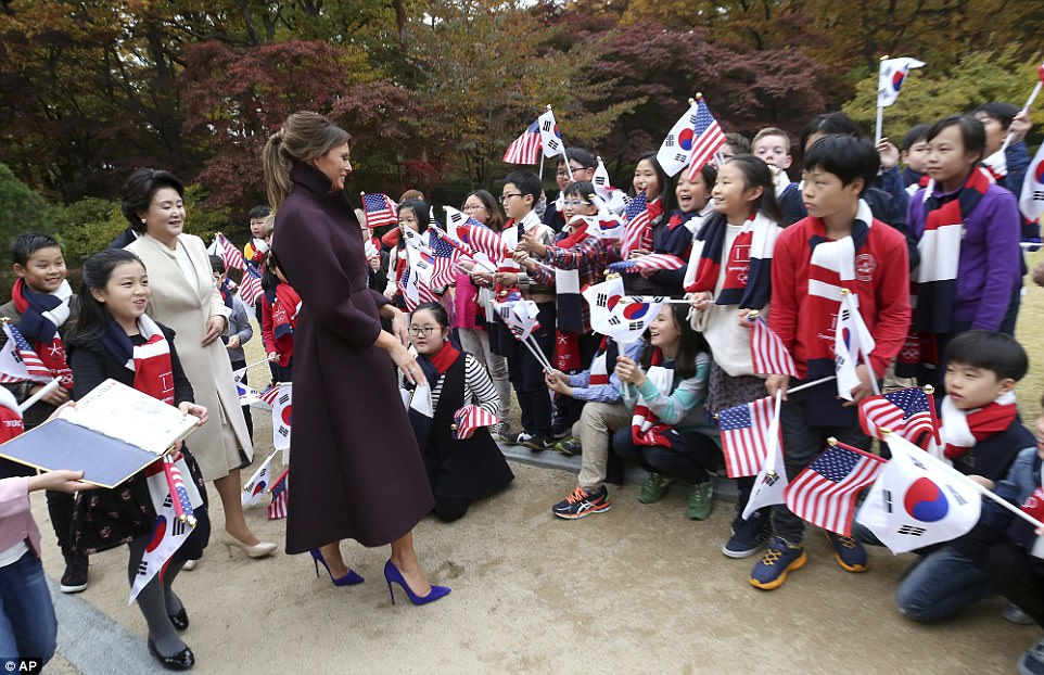 The US First Lady used the occasion to push her Girls Play 2 initiative which is aimed at guaranteeing equal access to sports facilities and training for both genders