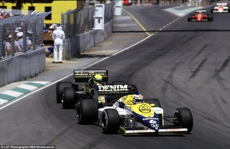 Keke Rosberg comes under serious pressure from the Lotus of Ayrton Senna in the first Australian Grand Prix to feature in the world championship and although the Brazilian would eventually take the lead later in the race he would retire with an engine failure. Rosberg would go on to triumph for Williams in what would be the 1982 world champion's last Formula One victory