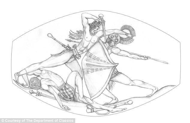 Bronze Age sealstone found in Ancient Greek warrior tomb