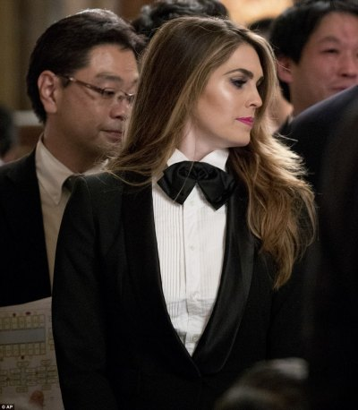 Hope Hicks looks stunning in grey in South Korea | Daily ...