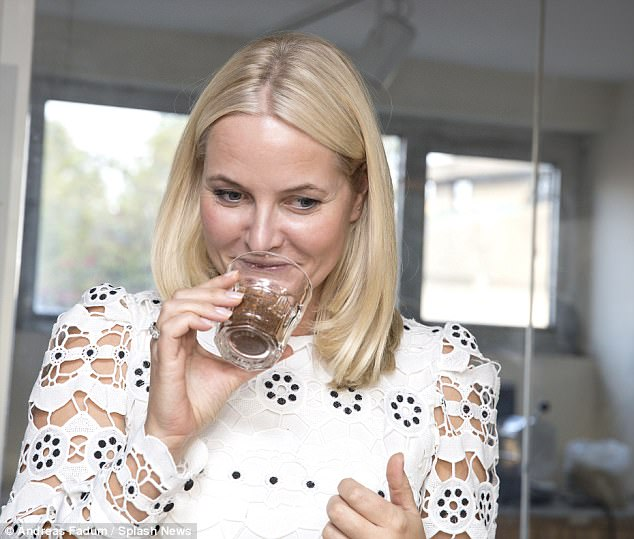 Princess Mette-Marit of Norway and her husband, the Crown Prince Haakon, were invited to a coffee tasting in Addis Ababa