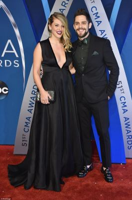 Looking good! Thomas Rhett and his wife Lauren Akins were perfection in their matching all-black looks