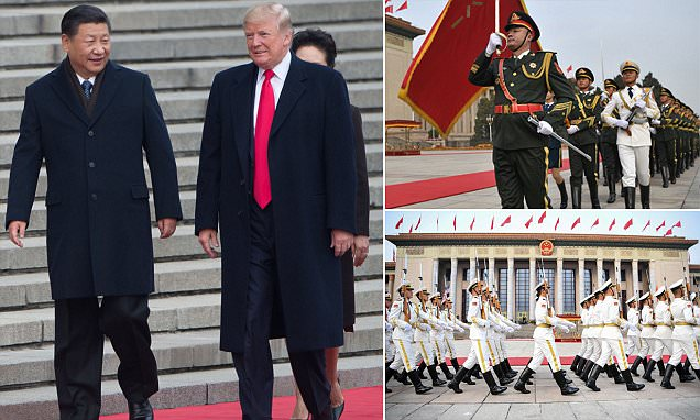 Donald & Melania Trump welcomed to China in grand ceremony