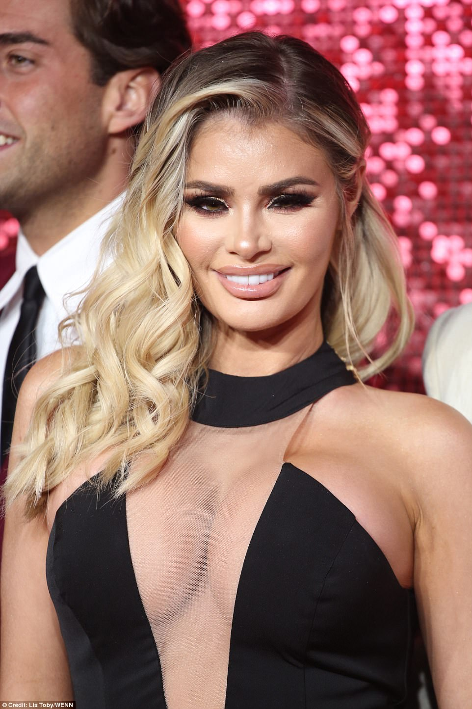 Taking the plunge! Chloe Sims, 35 made for a VERY eye-popping display as she showcased her more than ample bust at the gala