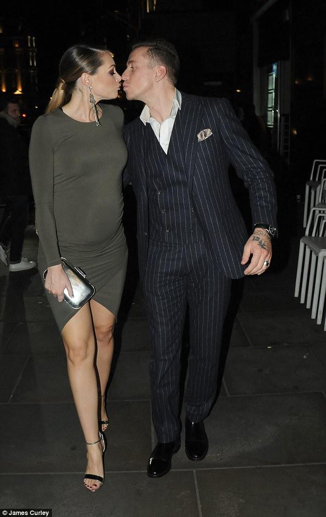 Danny Jones wife Georgia shows off bump at ITV Gala