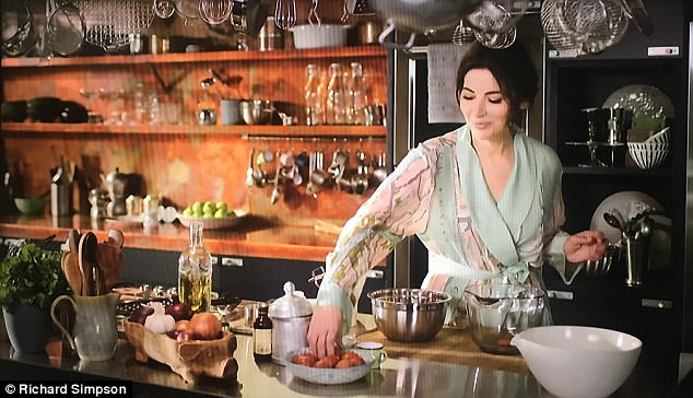 kitchen utensils set stainless steel prep table nigella lawson's at my filmed 5 miles from home ...