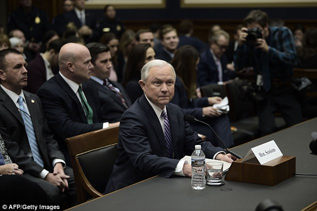 Attorney General Jeff Sessions arrives to testify before a House Judiciary Committee hearing on November 14, 2017, in Washington, DC, on oversight of the US Justice Department