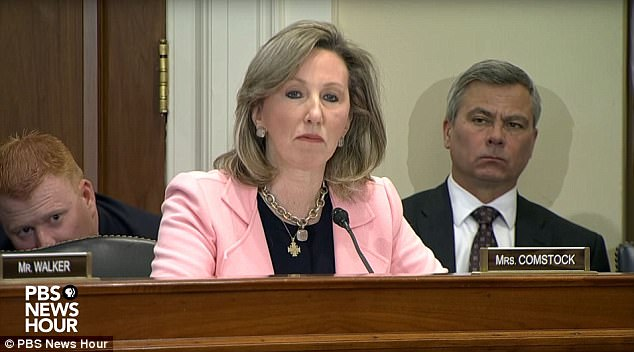 Rep. Barbara Comstock, R-Va., said she was recently told about a staffer who quit her job after a lawmaker asked her to bring work material to his house, then exposed himself