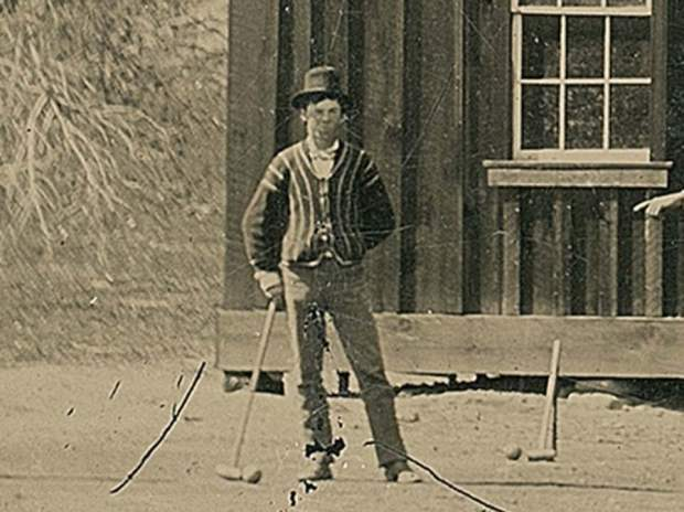 The photo, zoomed in to see Billy the Kid more closely, was discovered in 2015 and has since been estimated to be worth $5 million