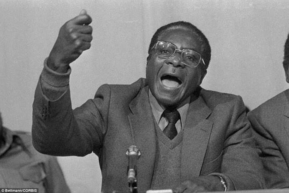 He ultimately embraced Marxist doctrine, but claimed that his biggest influence was Mohandas Gandhi because of his behaviour during the Indian struggle for independence. Pictured: Mugabe in 1979, a year before he became prime minister