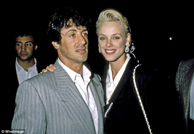 The bombshell police report was made a year before Stallone's half-sister Toni-Ann Filiti, threatened him with a lawsuit in 1987, alleging that Stallone raped her and sexually assaulted her. Pictured: Stallone, De Luca andNielsen in August 1986