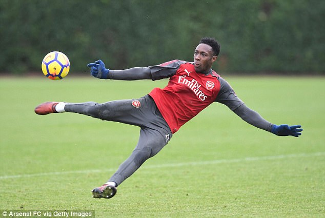 Danny Welbeck is back in training for Arsenal but is still not fully fit ahead of the derby