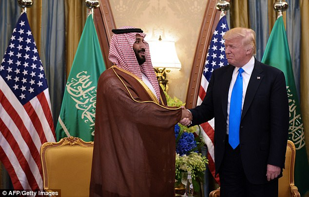 Endorsement: The 32-year-old crown prince, Mohammed bin Salman, has received backing from President Trump