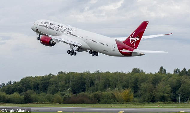 Several pilots have revealed to MailOnline Travel that making up time isn't easy - and that air traffic control and the jet stream play a big part in speeding up journeys. Pictured is a Virgin Atlantic Dreamliner, the carrier's most fuel-efficient plane