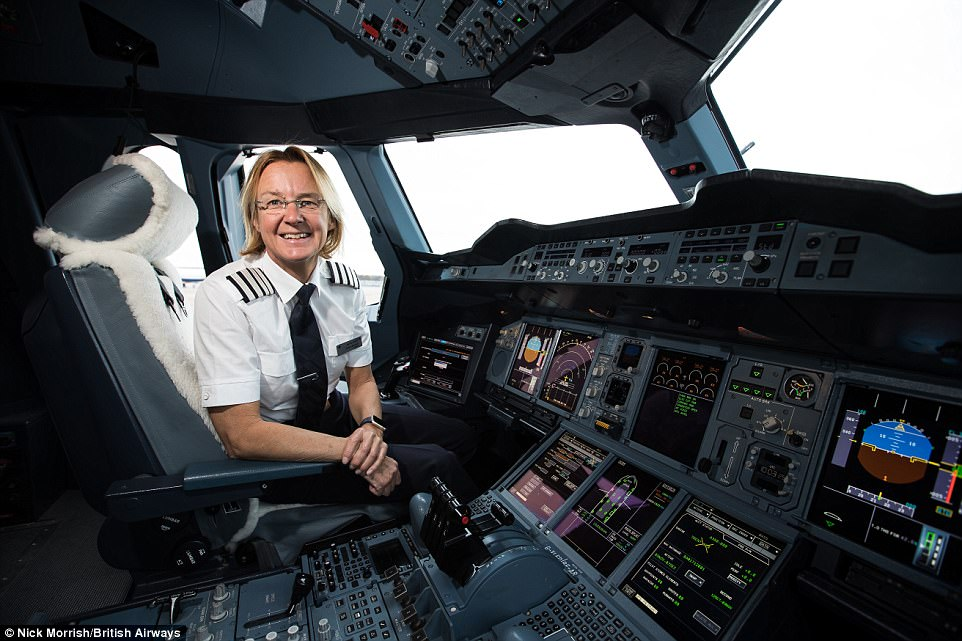 British Airways Captain Claire Bunton Pictured Has Been Flying The A380 For Just Over