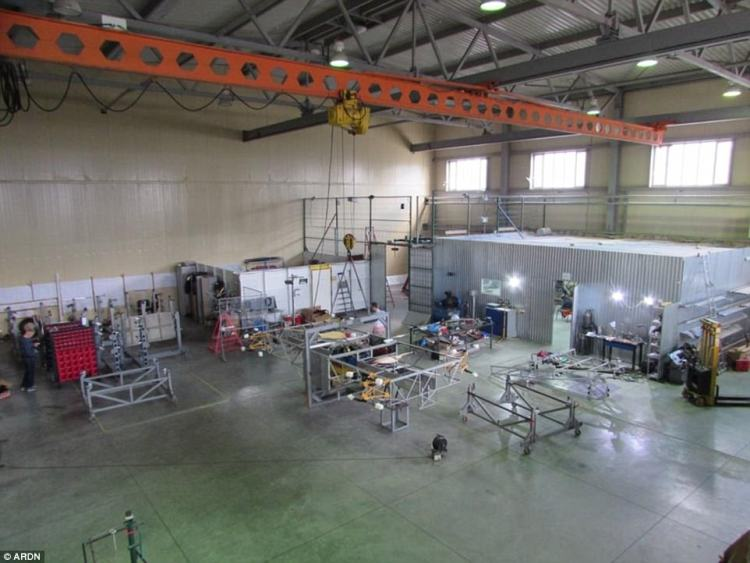 A manufacturing facility for the SKYF drone.It's not yet clear how much the drone costs or when it will be released, but it could have a major impact on a wide range of industries