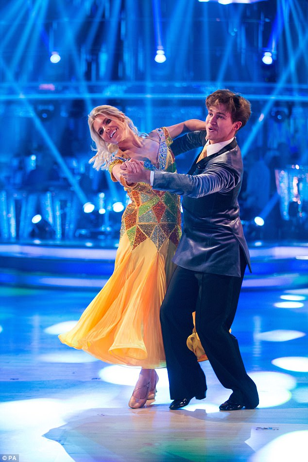 Amazing: As the pair performed the doo-wop inspired quickstep on Saturday, their chemistry was undeniable