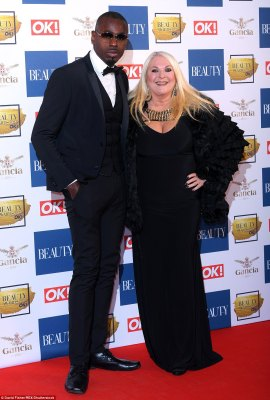 Cool characters! Vanessa Feltz was joined by her dashing partner Ben Ofoedu who opted to sport glasses inside