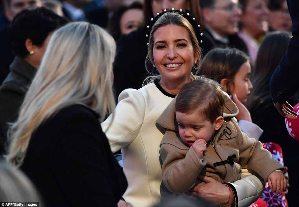 The mother-of-three seemed to be in a happy mood while holding her adorable son Theodore and  chatting to her sister Tiffany