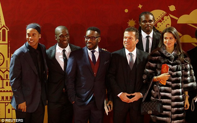 (Left to right) Ronaldinho, Clarence Seedorf, Jay Jay Okocha,Lothar Matthaus and Nwankwo Kanu also formed part of the all-star line up who attended the event