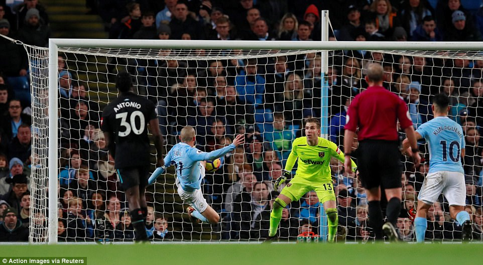 Silva moved quickly to enter the Hammers penalty area unmarked and unseen as he stabbed home the winner