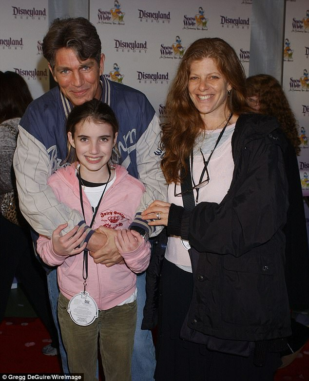MIA: Roberts appears to have no relationship with her Oscar-nominated father Eric (L), who was reportedly embroiled in a bitter custody battle with Kelly (pictured in 2004)