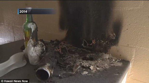 En 2014, la casa de una mujer en Moanalua casi fue quemada después de que explotó su dispositivo de vapeo, prendiendo fuego a su cocina