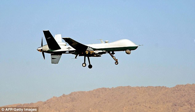 New figures reveal how Britain has dramatically increased its drone strikes in Syria (Reaper drone pictured)