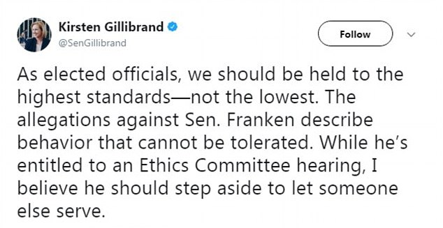 TWEET STORM: A series of Sen. Al Franken's Democratic colleagues called on him to resign Wednesday