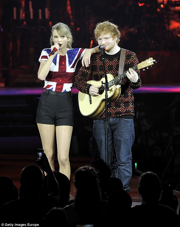 Collaborating: In 2013, Ed toured with Taylor and appeared on her track Everything Has Changed (here in 2014 together)