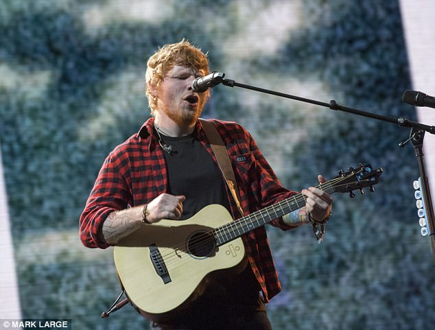 'I don't have a vast amount of talent': Ed (performing here at Glastonbury 2017) was humble about his achievements