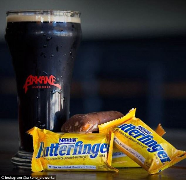 Two in one! They brewed stouts withButterfingers, Reese's, and other candy